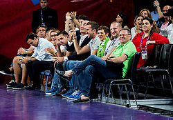 Gregor Griljc, Maja Makovec Brencic, Matej Erjavec and Zoran Jankovic during basketball match between National Teams of Slovenia and Spain at Day 15 in Semifinal of the FIBA EuroBasket 2017 at Sinan Erdem Dome in Istanbul, Turkey on September 14, 2017. Photo by Vid Ponikvar / Sportida