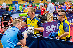 (Team SWE) NORGREN Bernt Magnus and OLSSON David Karl in action during 15th Slovenia Open - Thermana Lasko 2018 Table Tennis for the Disabled, on May 10, 2018 in Dvorana Tri Lilije, Lasko, Slovenia. Photo by Ziga Zupan / Sportida
