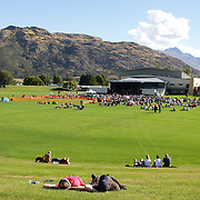 The crowd at the Creedence Clearwater Revisited concert at the Queenstown Events Centre, Queenstown,  Otago, New Zealand. 5th February 2012. Photo Tim Clayton