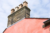 4 chimney pots on the gable end of a Georgian house