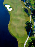 Aerial view of fairway at Weston Hills Country Club, Weston, Florida