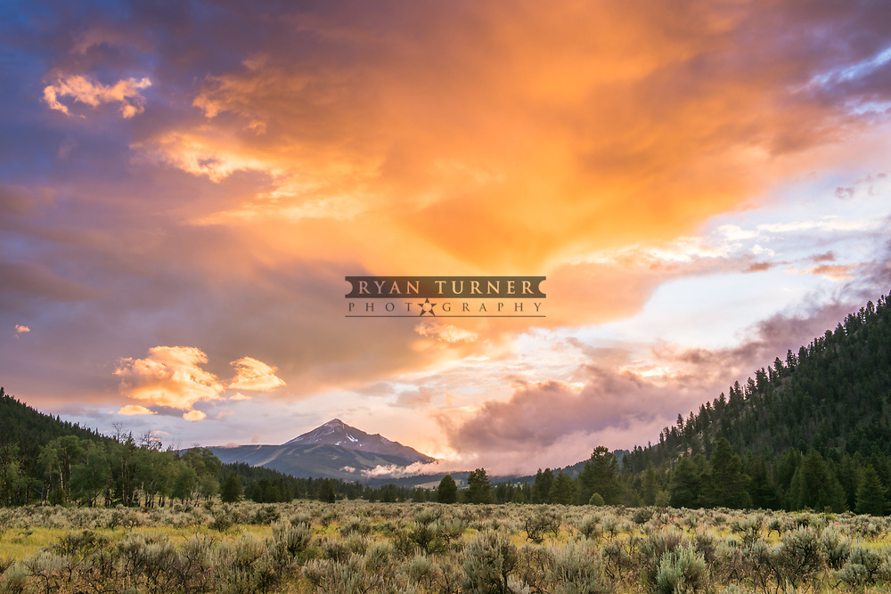 Sunset in the summer in Big Sky, Montana.  Limited Edition - 75