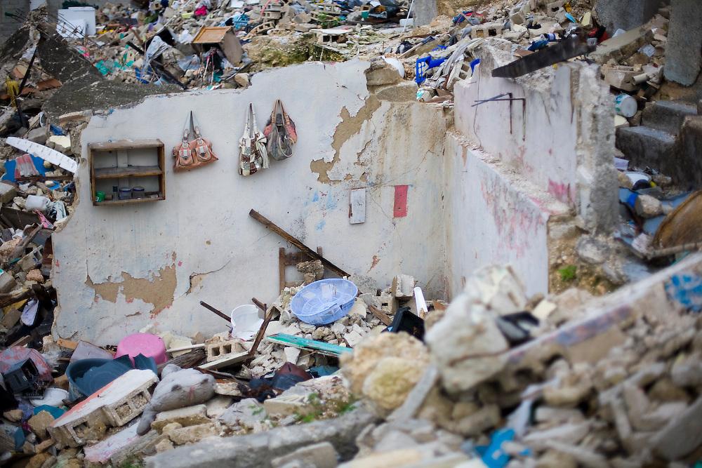 Rubble in Petionville, Haiti. Photo by Ben Depp. 4/19/2010