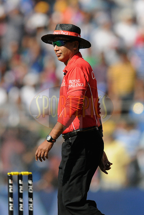 field umpire   S Ravi during match 28 of the Indian Premier League ( IPL) 2012  between The Mumbai Indians and the Kings X1 Punjab held at the Wankhede Stadium in Mumbai on the 22nd April 2012..Photo by Pal Pillai/IPL/SPORTZPICS.
