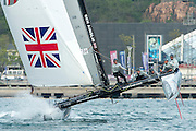 JP Morgan, Ben Ainslie Racing on day three of the Land Rover Extreme Sailing Series regatta in Qingdao, China. 3/5/2014
