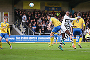 Forest Green Rovers Shamir Mullings(18) heads the ball on during the Vanarama National League match between Torquay United and Forest Green Rovers at Plainmoor, Torquay, England on 26 December 2016. Photo by Shane Healey.