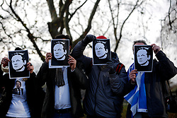 UK ENGLAND LONDON 11DEC10 - Supporters of Wikileaks stage a demonstration at Speakers Corner in Hyde Park demanding the release of its founder Julian Assange...Assange was arrested in London by the Metropolitan Police Service on 7 December by appointment, after a voluntary meeting with the police. Later that day, Assange was refused bail and held in custody on remand...jre/Photo by Jiri Rezac..© Jiri Rezac 2010