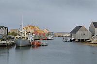 Fishing boats and fisherman's shacks at Peggy's Cove Nova Scotia