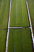 Nederland, Utrecht, Bunnik 10-01-2011;.Weilanden omgeven door sloten met sneeuw. Fields surrounded by snowy ditches...luchtfoto (toeslag), aerial photo (additional fee required).foto/photo Siebe Swart