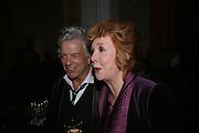 Nicky Haslam and Cilla Black , ' Show Off' Theo Fennell exhibition co-hosted wit Vanity Fair. Royal Academy. Burlington Gdns. London. 27 September 2007. -DO NOT ARCHIVE-© Copyright Photograph by Dafydd Jones. 248 Clapham Rd. London SW9 0PZ. Tel 0207 820 0771. www.dafjones.com.