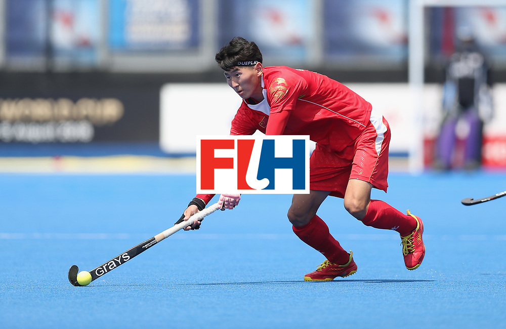 LONDON, ENGLAND - JUNE 17:  Talake Du of China during the Hero Hockey World League semi final match between China and Korea at Lee Valley Hockey and Tennis Centre on June 17, 2017 in London, England.  (Photo by Alex Morton/Getty Images)