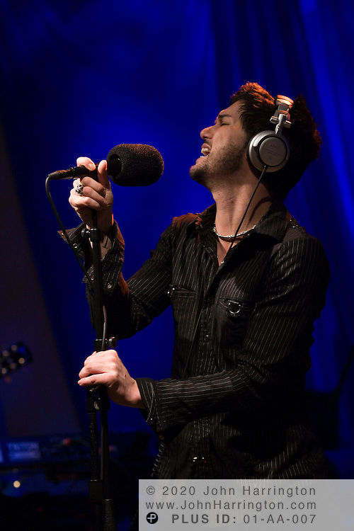 """Australian rock group INXS performs at XM on Tuesday May 2, 2005.  The performance was part of XM's """"Artist Confidential"""" series."""