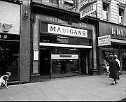 01/07/1969<br /> 07/01/1969<br /> 01 July 1969<br /> Pubs in and about Dublin. Madigans,<br /> 19 OConnell street,<br /> Dublin 1.