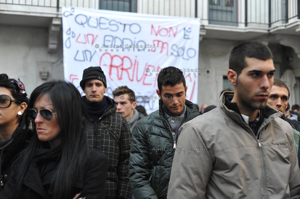 Lonato (Brescia), 12/01/2012: il funerale di Marco morto in un incidente automobilistico<br /> &copy;Andrea Sabbadini