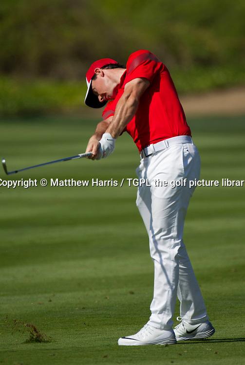 Rory MCILROY (NIR) during first round Abu Dhabi HSBC Golf Championship 2016, Abu Dhabi GC,Abu Dhabi,UAE.