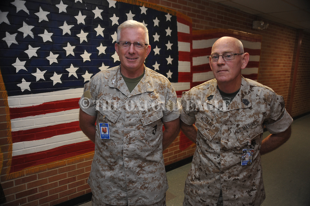 Doug Cromwell, Colonel USMC, is a Senior Marine Instructor for the MCJROTC at Oxford High School, in Oxford, Miss. on Tuesday, October 22, 2013.