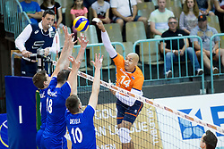 Nimir Abdel Aziz of The Netherlands during volleyball match between national teams of Slovenia and Netherlands of 2018 CEV volleyball Godlen European League, on June 6, 2018 in Arena Bonifika, Koper, Slovenia. Photo by Urban Urbanc / Sportida