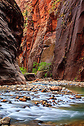 The Narrows of Zion National Park, Utah.