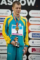 ZALEVSKYY Dmytro UKR at 2015 IPC Swimming World Championships -  Men's 100m Backstroke S11 PODIUM