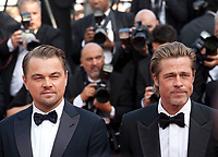 Leonardo DiCaprio and Brad Pitt at the Once Upon A Time... In Holywood gala screening at the 72nd Cannes Film Festival Tuesday 21st May 2019, Cannes, France. Photo credit: Doreen Kennedy