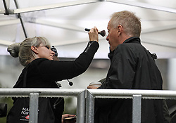 © Licensed to London News Pictures. 04/09/2019. London, UK. PHILIP LEE MP is seen having makeup applied before a television interview in Westminster, London. British Prime Minister Boris Johnson has a called for a general election after losing his first commons vote and losing his majority, removing his control of parliament. Photo credit: Ben Cawthra/LNP