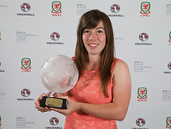 CARDIFF, WALES - Monday, October 5, 2015: FAW Fair Play Award winner Welsh Women's Premier League Cwmbran Celtic Ladies during the FAW Awards Dinner Dinner at Cardiff City Hall. (Pic by David Rawcliffe/Propaganda)