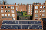 Bannister House was Hackney's first community solar installation, Banister House Solar, has been developed by Repowering London in partnership with local estate residents and Hackney Council, and delivered using funds raised through a community share offer. The 102kWp solar array generates up to 82,000kWh of energy annually, saving 50,000kg of CO2 emissions. In addition, a portion of the revenue generated through the government's Feed-in Tariff and sale of energy over the 20-year life of the project will generate over £28,000 for the Banister House Solar community fund. Hackney, London.