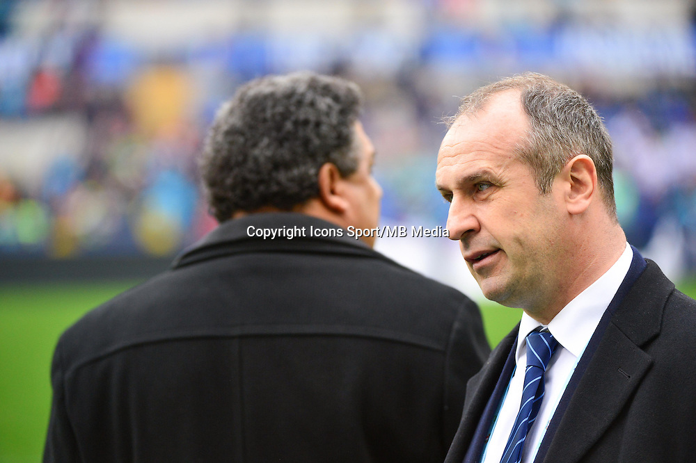 Serge BLANCO / Philippe SAINT ANDRE - 15.03.2015 - Rugby - Italie / France - Tournoi des VI Nations -Rome<br /> Photo : David Winter / Icon Sport