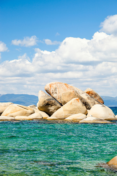 """Whale Rock, Lake Tahoe 1"" - Photograph of the famous Whale Rock on the East Shore of Lake Tahoe."