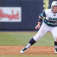 UNCW's Corey Dick leads off against Wake Forest Sunday February 22, 2015 during the Hughes Brothers Challenge at Brooks Field. (Jason A. Frizzelle)