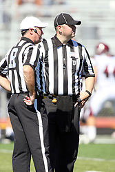 08 September 2012:  Referee Paul Keating and Umpire Bob Hansen during an NCAA division 3 football game between the Alma Scots and the Illinois Wesleyan Titans which the Titans won 53 - 7 in Tucci Stadium on Wilder Field, Bloomington IL