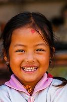 Nepalese girl, Bhaktapur, Kathmandu Valley, Nepal.