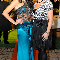 -FREE PICTURE / NO REPRODUCTION FEE-.Pictured at the annual Black and White Ball in the Blue Haven Hotel, Kinsale were Miss Cork Jean Kenny with event organiser Irene Lyons..Pic. John Allen