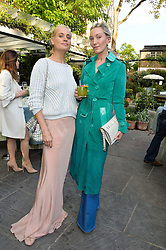 Left to right, KALITA AL SWAIDI and OLIVIA BUCKINGHAM at a party to celebrate 'A Year In The Garden' celebrating the first year of The Ivy Chelsea Garden, 197 King's Road, London on 16th May 2016.