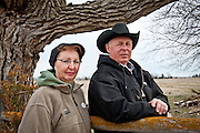 Ken and Karen Prososki on the site where the Keystone XL Pipeline will cross their Loup River pastureland, if President Obama approves the permit.