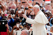 Vatican City sep 16th 2015, weekly general audience in St Peter's Square. In the picture pope Francis
