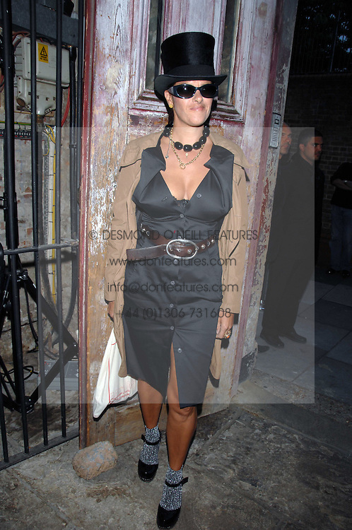 TRACEY EMIN at the Stephen Webster launch party of his latest jewellery collection during the London Jewellery Week, at Wilton's Music Hall, Graces Alley, Off Ensign Street, London E1 on 12th June 2008.<br /><br />NON EXCLUSIVE - WORLD RIGHTS