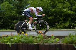 Marianne Vos (Rabo Liv) enters the final kilometre at Thüringen Rundfarht 2016 - Stage 4 a 19km time trial starting and finishing in Zeulenroda Triebes, Germany on 18th July 2016.