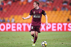 January 8, 2018 - Brisbane, QUEENSLAND, AUSTRALIA - Corey Brown of the Roar (5) looks to pass the ball during the round fifteen Hyundai A-League match between the Brisbane Roar and Sydney FC at Suncorp Stadium on Monday, January 8, 2018 in Brisbane, Australia. (Credit Image: © Albert Perez via ZUMA Wire)