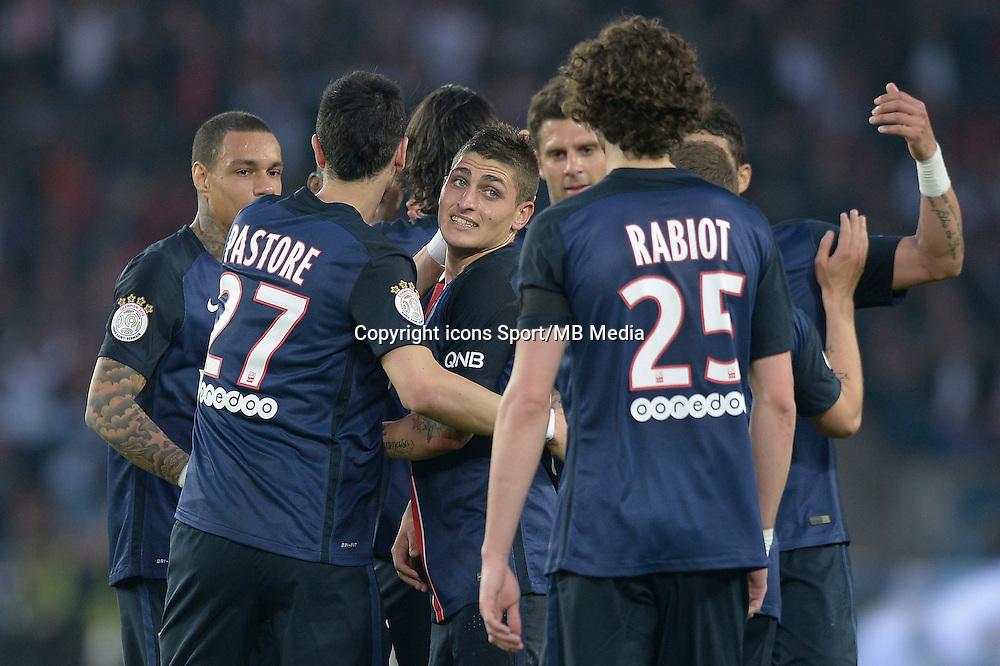 joie PSG / Marco Verratti - 23.05.2015 - PSG / Reims - 38eme journee de Ligue 1<br />Photo : Andre Ferreira / Icon Sport