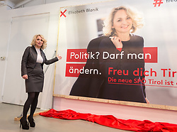 12.01.2018, Fotoforum West, Innsbruck, AUT, Landtagswahl Tirol, Präsentation der SPÖ Kampagne, im Bild Landesparteivorsitzende LAbg. DI Elisabeth Blanik // during the presentation of the SPÖ campaign for the upcoming Tyrolean state election at the Fotoforum West in Innsbruck, Austria on 2018/01/12. EXPA Pictures © 2018, PhotoCredit: EXPA/ Jakob Gruber