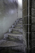 stairs corridor inside medieval tower