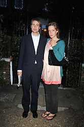 BEN & KATE GOLDSMITH at a Summer party hosted by Lady Annabel Goldsmith at her home Ormeley Lodge, Ham, Surrey on 14th July 2009.