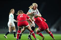Tamara Taylor of England takes on the Canada defence - Mandatory byline: Patrick Khachfe/JMP - 07966 386802 - 26/11/2016 - RUGBY UNION - Twickenham Stadium - London, England - England Women v Canada Women - Old Mutual Wealth Series.