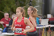 Shannan Higgins (1254) of Seattle University competes in the women's 3 mile run at the UW/Seattle University Open at Warren G. Magnuson Park., Friday, Aug. 30, 2019, in Seattle. (Paul Merca/Image of Sport)