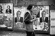 Election campaign poster in the streets of Zizkov.