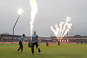 Sussex's Luke wright & Sussex's Phil Salt during the final of the Vitality T20 Finals Day 2018 match between Worcestershire rapids and Sussex Sharks at Edgbaston, Birmingham, United Kingdom on 15 September 2018.