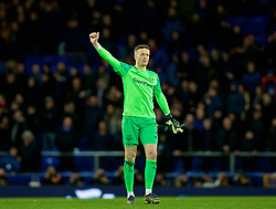 LIVERPOOL, ENGLAND - Sunday, March 3, 2019: Everton's goalkeeper Jordan Pickford after the FA Premier League match between Everton FC and Liverpool FC, the 233rd Merseyside Derby, at Goodison Park. The game ended in a 0-0 draw. (Pic by Laura Malkin/Propaganda)