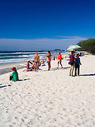 Morning on the beach, Pratten Park, Broadbeach, Gold Coast, Queensland, Australia