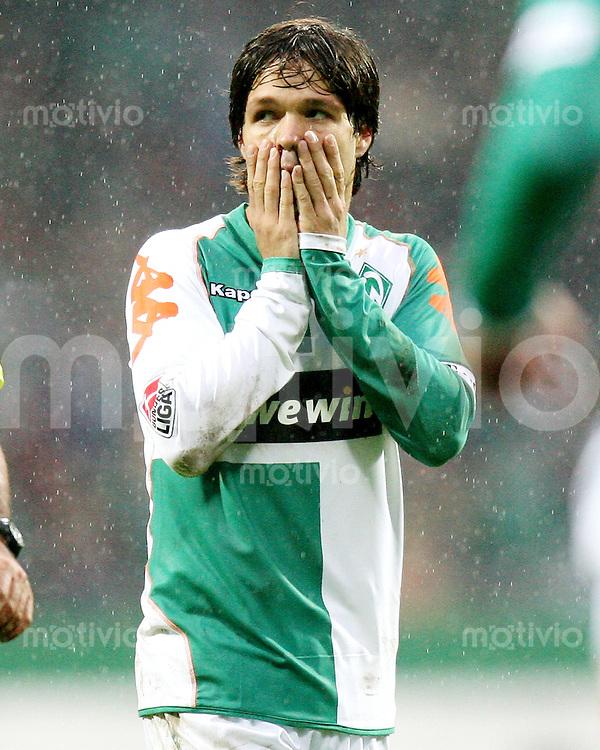 Fussball   1. Bundesliga   Saison 2006/2007   10. Spieltag SV Werder Bremen - Energie Cottbus            DIEGO (Bremen) enttaeuscht